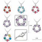 Delicate Cycle Chain Crystal Rhinestone Love Promise Clouds Necklace Bib Pendant