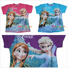 BNWT Frozen Disney Elsa Anna Olaf Summer Tee Top T-shirt SZ 2,3,4,5,6,8,10