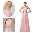 Women's Sheer Neck Evening Party Cocktail Bridesmaid Dresses Long Gowns AU 6 -20