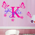 BUTTERFLIES & FREE Personalised/Customise Name in 2 Colour ways wall sticker