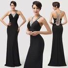 SEXY V Neck /X Back Bodycon Evening Ball Gown Prom Party Formal Bridesmaid Dress