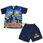 Batman Bat Man Summer Pyjamas Pajamas PJS Top Short Size 2,3,4,5,6,8