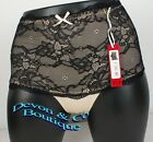 Ladies Loving Moments Lacey Briefs Skin/Black or Black/Skin Size Small to XLarge