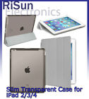 Ultra Slim Magnetic Smart transparent grey Case For iPad 2 3 4 screen protector