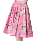 Hell Bunny Candy Floral Circle Skirt Rockabilly Pin Up Retro Swing Vintage Full