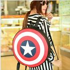 New Unisex Captain America Shield Backpack Shoulders Book Bag