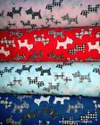 Scottie Dog Westies Terrier Polycotton Fabric Choice of colour & size FREE POST