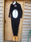 WOMENS PENGUIN HOODED FLEECE ALL IN ONE DRESSING UP PLAYSUIT 14 16 18 20 BNWT