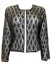 PLUS SIZE eaonplus BLACK Stretch Floral Lace BOLERO / SHRUG Sz's 18 to 32 GOTHIC