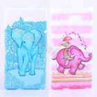 2Pcs TPU Soft Rubber Unique Elephant Colorful Pattern Case Cover F Various Phone