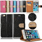 Crystal Diamond Bling Glitter Wallet Case Flip Pouch Cover fr Apple iPhone 6 4.7