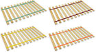 QUEEN SIZE CUSTOM WIDTH COLORED STRAPS WOOD BED SLATS SUPPORT BOARD PLATFORM