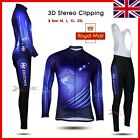 Winter ! New Fashion long sleeve Men's team cycling jersey set Bib pants 2014 UK
