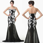 Sexy Black Christmas Dress Party Formal Evening Ball Prom Dresses Wedding Gowns