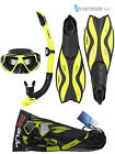 Gul Tarpon Adult Snorkel Mask And Fins Set Silicon Snorkelling Swimming Diving
