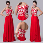 New Stock Long Wedding Bridesmaid Formal Gown Party Cocktail Evening Prom Dress