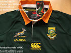 S 3XL 4XL LONG SLEEVE SOUTH AFRICA SPRINGBOKS CANTERBURY RUGBY SHIRT