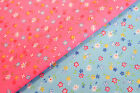 SMALL FLOWERS DESIGN 2 - PRINTED POLY COTTON FABRIC - WIDTH 114 CM