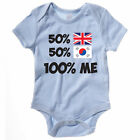 50% BRITISH 50% SOUTH KOREAN 100% ME - UK / South Korea / Fun Themed Baby Grow