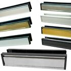 "10"" or 12"" Anti Vandal Letter Box Plate Set - Upvc Timber Doors 180° Inch Chrome"