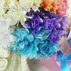 Dragonchant Mini Wired Artificial Flower Bouquet Stamen Wedding Millinery Craft