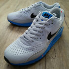 Nike Air Max 90 Premium Comfort EM Grey Blue NSW Running Shoes with tiny defect