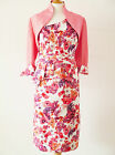 25541 JOHN CHARLES STRETCH FLORAL MOTHER OF BRIDE OUTFIT RRP £699 SAVE 53% 16,18