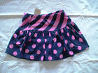 NWT GYMBOREE BRIGHTEST IN CLASS NAVY PINK STRIPE POLKA DOT SKIRT BTS FALL
