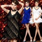 Lady Cocktail Evening Homecoming Prom Party Latin Dance Asymmetric Fringe Dress