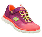 Skechers SKECH APPEAL Girl's Athletic Shoes NEON CORAL/MULTI 81898LNCMT