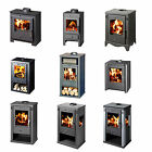 Modern Multi Fuel Wood Burning Log Burner Stove Steel WoodBurner High Efficient