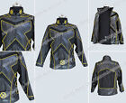 X Men Cosplay Wolverine Deluxe Gold Line Black leather Male's Uniform Holloweeen