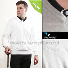 EX DISPLAY STROMBERG  FUNKY RIVERIA MENS WHITE COTTON SWEATERS/JUMPERS