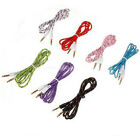 3.5mm Braided Male to Male Stereo Audio Auxiliary AUX Cable fr PC iPod CAR Phone