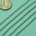 Oxidized Sterling Silver Bulk Chain 2MMx2.3MM By The Foot