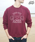 This Guy Loves Christmas Jumper Sweater Top Funny Men's Gift Fashion Men Winter