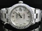 Mens Stainless Steel Rolex Datejust 1 Watch with 2.15 Ct Diamond MOP Dial