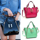 New Women Shoulder Bag Patent Leather Handbag with Gold Tone Hardware Zip Front