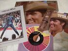 ELVIS PRESELY ~ 1981 GUITAR MAN LP W/THE INSERT & THE 45 RPM & PICTURE SLEEVE