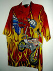 NEW MOTORCYCLE  / MOTOCROSS hawaiian shirt  by MOON  SIZE XL dirt racing