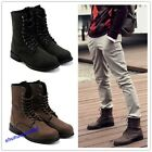 New Combat Boots Winter England-Style Men's Shoes Winter Boots Lace Up 2 Colors