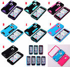 Hybrid High Impact Hard & Soft Silicone House Case cover for iphone 5G 5S