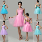 STOCK Lace Sleeveless Colorful Sexy Short Formal Bridesmaid Dresses Prom Dresses