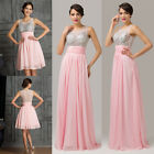 2 Style NEW Sequins Long/Short Prom Evening Gown Formal Party Bridesmaid Dresses