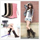 New Style Lady Flat Over The Knee High Long Riding Winter Boot 6 Colors 10 Sizes