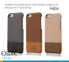 iPhone 6/6S, 6 Plus/6S Plus Leather Cases w Wooden Pattern Red Dot Award Design
