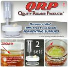 2 QRP Mason Jar Lids FERMENTATION KITS w/ EXCLUSIVE FOOD RETAINER CUP WEIGHTS