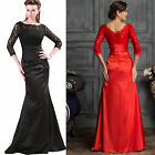 WINTER Sexy Women Vintage Lace Long Sleeve Mermaid Prom Evening Party Maxi Dress