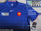 L or XL NIKE FRANCE RUGBY WORLD CUP 2011 SHIRT Jersey Home FFR ORIGINAL PACK Tag