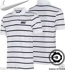 Nike Men's MatchUp Polo Pique Thin Stripe White Cotton Tee All Sizes 544087-100